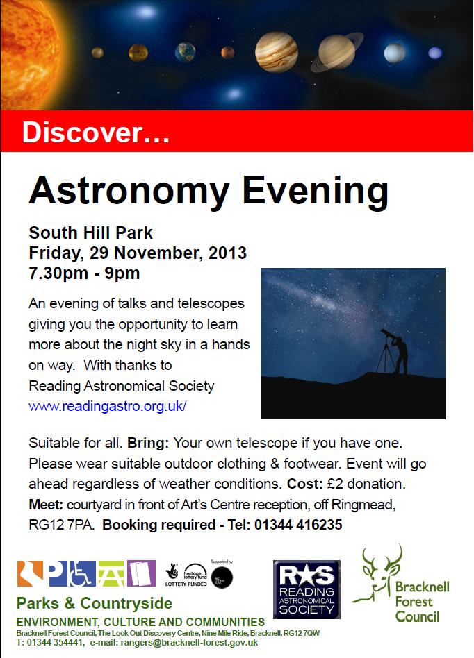 Bracknell Astronomy Evening