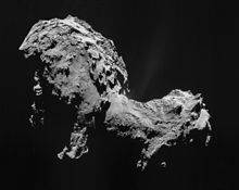 Comet Churyumov–Gerasimenko in September 2014 as imaged by Rosetta