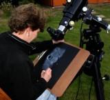 Sally at the telescope